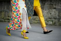 Street Style: Loud Prints and Pinstripes in Paris - The Cut