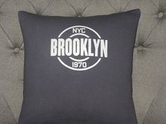 Brooklyn T Shirt Throw Pillow by ThePastureRoad on Etsy