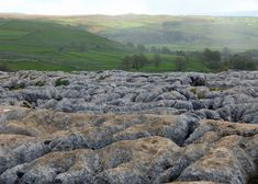 Limestone pavement at Malham - a geographer's delight: clints, grykes, pits, pans and fabulous views.