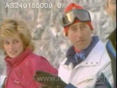 January 24, 1985:  Charles & Diana on skiing holiday in Liechenstein. Prince Charles appeared dejected when the Princess decided she'd had enough skiing for the day.