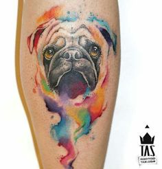 Pug tattoo by Rodrigo Tas