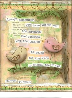Inspirational Art, Reach for the Stars Birds in pink, Harriet Tubman, 8 x 10 Fine Art Print via Etsy Collages, Dandelion Designs, Positive Inspiration, Journal Inspiration, Drawing Journal, Celebrate Good Times, Reaching For The Stars, Mixed Media Art, Fine Art Prints