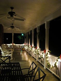Decorated Back Porch