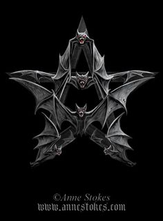 Vampire Bat Pentagram Box by Anne Stokes - Click Image to Close