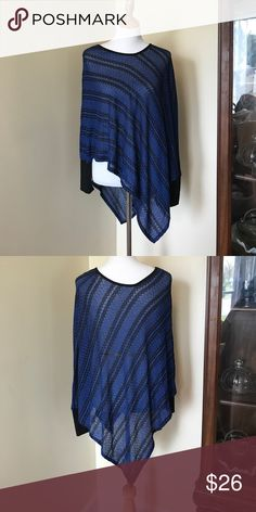 Isela Knit poncho top NWT. Comfy and roomy. Perfect for layering or wearing alone. Sleeves can be worn long or 3/4 length. Double V hemline with side slits that start at the base of the ribbed cuff. Body is 55% polyester, 43% rayon, 2% spandex. Cuffs are 96% polyester, 4% spandex. Size small - will easily fit a medium. Isela Tops Tees - Long Sleeve