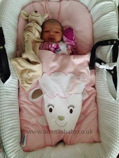 """Sophia Looks Cute in Her Cotton Candy Nap Mat!!! Little Sophia is a happy looking baby in her nap mat. Mum Rhianne told us """"My baby Sophia 1 day old today. She loves her nap mat!! xx""""  She is gorgeous! :-)"""