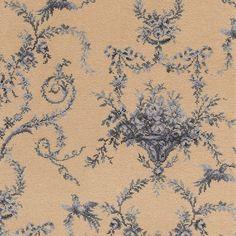 Toile empire blue broadloom carpet, Classic florals range   Brintons Carpets