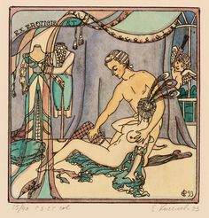 We're enjoying this fantastic collection of vintage erotic bookplates (ex libris) from a whole host of countries and decades, though beware, many of t. Ex Libris, Baroque Fashion, Illustrations, Vintage Magazines, Country Of Origin, Erotic Art, Art Museum, Book Worms, Pin Up