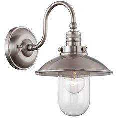 """Downtown Edison Collection 13"""" High Brushed Nickel Sconce - #2Y640 