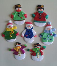 Muñecos de nieve_Imánes para la nevera                                                                                                                                                      Más