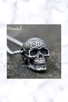 Skull Pendant Necklace Men Stainless Steel