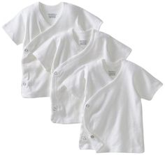 Avoid the over-the-head trauma with Gerber Unisex-Baby Newborn 3 Pack Short Sleeve Side Snap Shirt, White, 0-3 Months Gerber,http://www.amazon.com/dp/B007C2PYL4/ref=cm_sw_r_pi_dp_wpoisb1T21MDVSCE