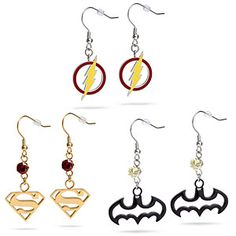Super Hero Earrings (Batman only right now) $29.99