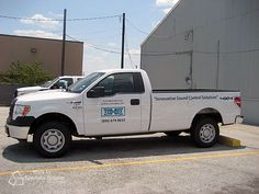 Environmental Noise Control needed to brand their busy fleet of trucks and we were happy to get them the lettering they need to get noticed.