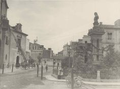 Murcia, Spain, Plaza, Antiques, Painting, Old Bridges, Wanderlust, 19th Century, Firefighters