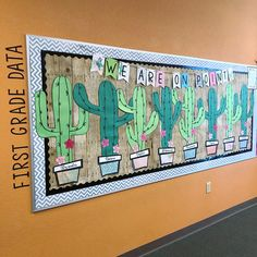 Cactus bulletin board classroom decor and bulletin boards ка