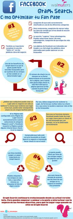 Optimiza tu Fan Page para FaceBook Graph Search #infografia #infographic #socialmedia