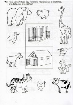 Számolj te is - Kollár Orsi - Picasa Web Albums Animal Crafts For Kids, Animals For Kids, Farm Animals, Animals And Pets, Animal Coloring Pages, Coloring Books, Animal Worksheets, Animal Habitats, Farm Theme