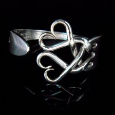 fork bracelet! Love repurposing things into jewelery.