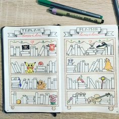 """This is the whole double page of my """"Books to read """" log. I really like how it turned out!"""