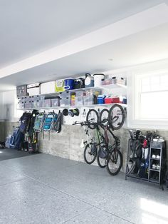 storage organization garage workshop solve problems without problems Garage Organization Tips, Garage Storage Solutions, Diy Garage Storage, Garage Shelving, Mudroom Storage Ideas, Small Garage Organization, Basement Storage Shelves, Overhead Garage Storage, Storage Room Organization