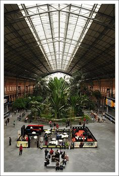 Madrid Puerta de Atocha, largest railway station in Madrid Copyright: Gosia Siudzinska