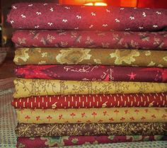NEW Christmas Quilt Fabric Half Yard Bundle  by PrimitiveQuilting, $46.00
