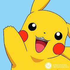 Gotta catch 'em all - even Pikachu with braces! Bonus points #pokemon