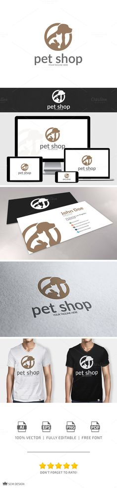 Check out Pet Shop Logo by SCM Shop on Creative Market
