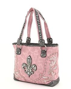@Yolanda Imamura Ann Beckman, I thought of you when I saw this! pink & black with rhinestones & fleur de lis