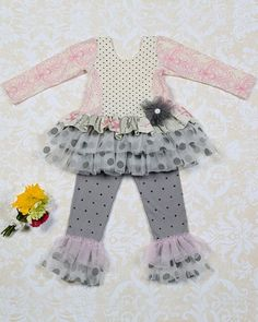 2015 Giggle Moon Graced Maddison Dress & Legging Set<BR>3 Months to 10 Years<BR>Now in Stock
