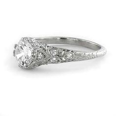 Antique Engagement Ring Settings For Round Diamonds 32 Engagement Sets, Perfect Engagement Ring, Antique Engagement Rings, Engagement Ring Settings, Diamond Engagement Rings, Disney Engagement, Solitaire Rings, Diamond Rings, Wedding Engagement