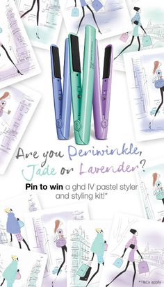 Pin for your chance to win in the ghd Pastel Pinterest contest! #ghdPastels #Jade