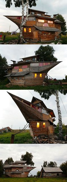 This house is a little over the top, but what kid wouldnt LOVE this! This house is a little over the top, but what kid wouldnt LOVE this! Building Art, Building A House, Beautiful Architecture, Architecture Design, Crazy Home, Home Structure, Unusual Buildings, Unique House Design, Casa Real