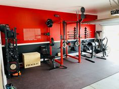 Rogue has equipped thousands of garage gyms across the globe, and this is just a small sample of some of our handy work. See how our work can pay off for your home gym. Home Gym Basement, Home Gym Garage, Diy Home Gym, Gym Room At Home, Home Gym Decor, Home Gyms, Home Gym Design, Garage Design, Crossfit Garage Gym