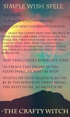 The Crafty Witch: Simple Wish Spell
