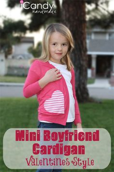 icandy handmade: (tutorial and pattern) Mini Boyfriend Cardigan Valentine's Style