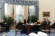 George H. W. Bush's Oval Office,     1990.