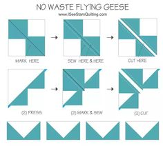 """Ever wondered what a Quilter's """"Flying Geese"""" was and why its called that? See the simple steps how you can make them! Quilting For Beginners, Quilting Tips, Quilting Tutorials, Quilting Designs, Machine Quilting, Quilting Projects, Sewing Projects, Sewing Tips, Sewing Ideas"""