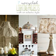 7 Upcycled Lighting Projects with an eclectic style