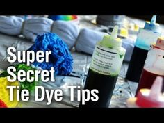 ** Super Secret Tie Dye Technique - ** SHE JUST EXPLAINS HOW TO TIE DYE WITHOUT MAKING A MESS - GOOD!!! :) - Check out all the related Tie Dye video's on right-hand side of the page