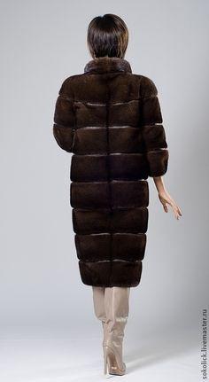 Верхняя одежда ручной работы. Шуба из коричневой норки SAGA. Sokolick Handmade. Ярмарка Мастеров. Норка, ручная работа, кожа