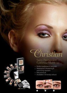 Augenbrauenpuder Set von Christian Cosmetics  http://www.wimpernwuensche.de/christian-augenbrauenpuder-mit-schablone-wasserfest-bronze.html  #Christian #Eyebrow #Augenbrauen #Augenbrauenpuder