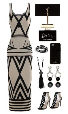 Sand and black by micha-love on Polyvore featuring polyvore fashion style Yves Saint Laurent Nathalie Jean Kate Spade Dolce&Gabbana clothing