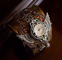 I found 'Steampunk Cuff Bracelet Watch' on Wish, check it out!