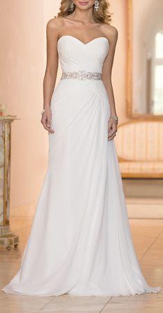 Chiffon Sheath Bridal Gown ♥