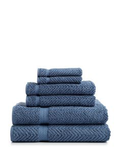 Herringbone Towel Set (6 PC) by Linum Home Textiles at Gilt