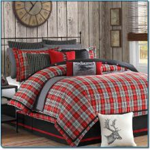 red and gray plaid bedding | â?â?Câ?¡LOR â?É?É? & GɽÉ?yâ?â? | Pinterest ... : red and grey quilt - Adamdwight.com