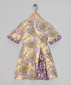 Take a look at this Lavender Garden Vintage Ruffle Dress - Toddler & Girls by Ruby and Rosie on #zulily today!