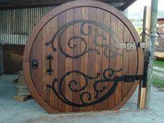 """Replica of the door in """"The Lord of the Rings"""" (film version)."""